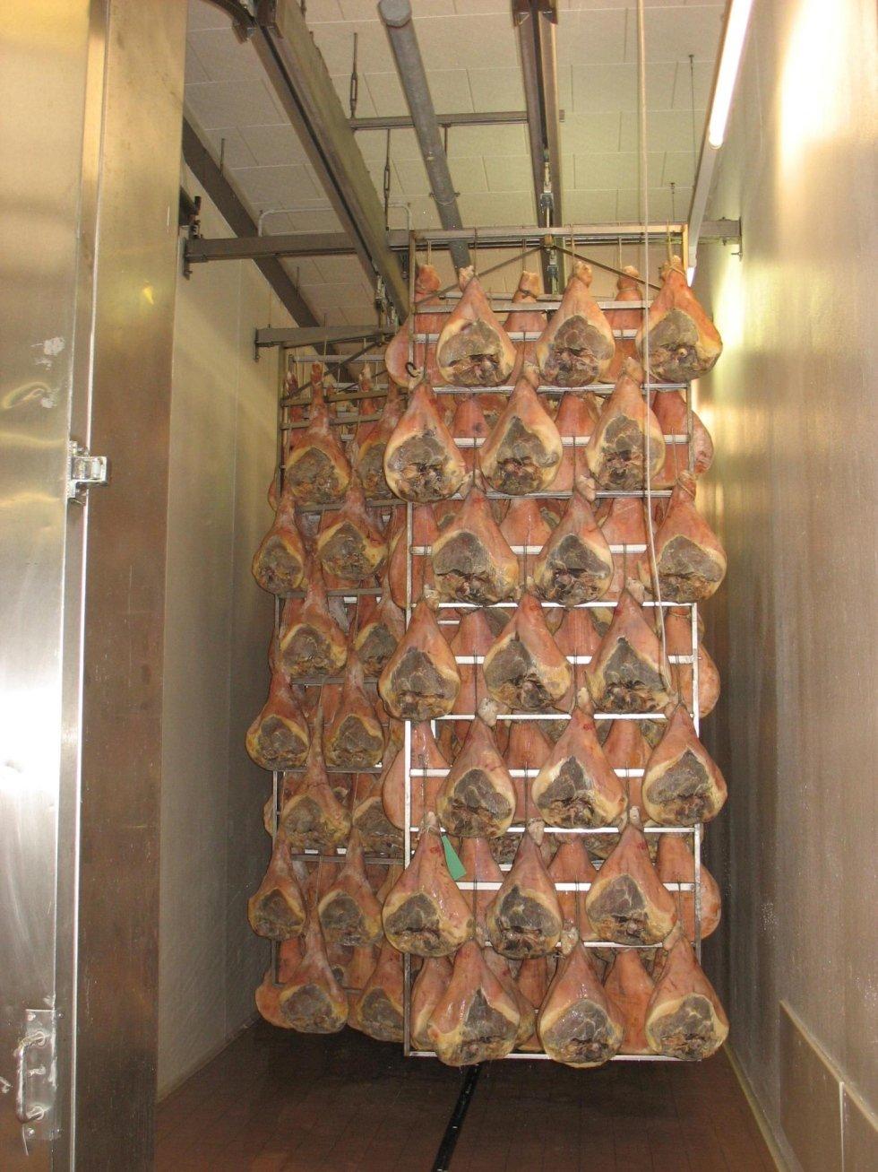 bastidor curado jamones