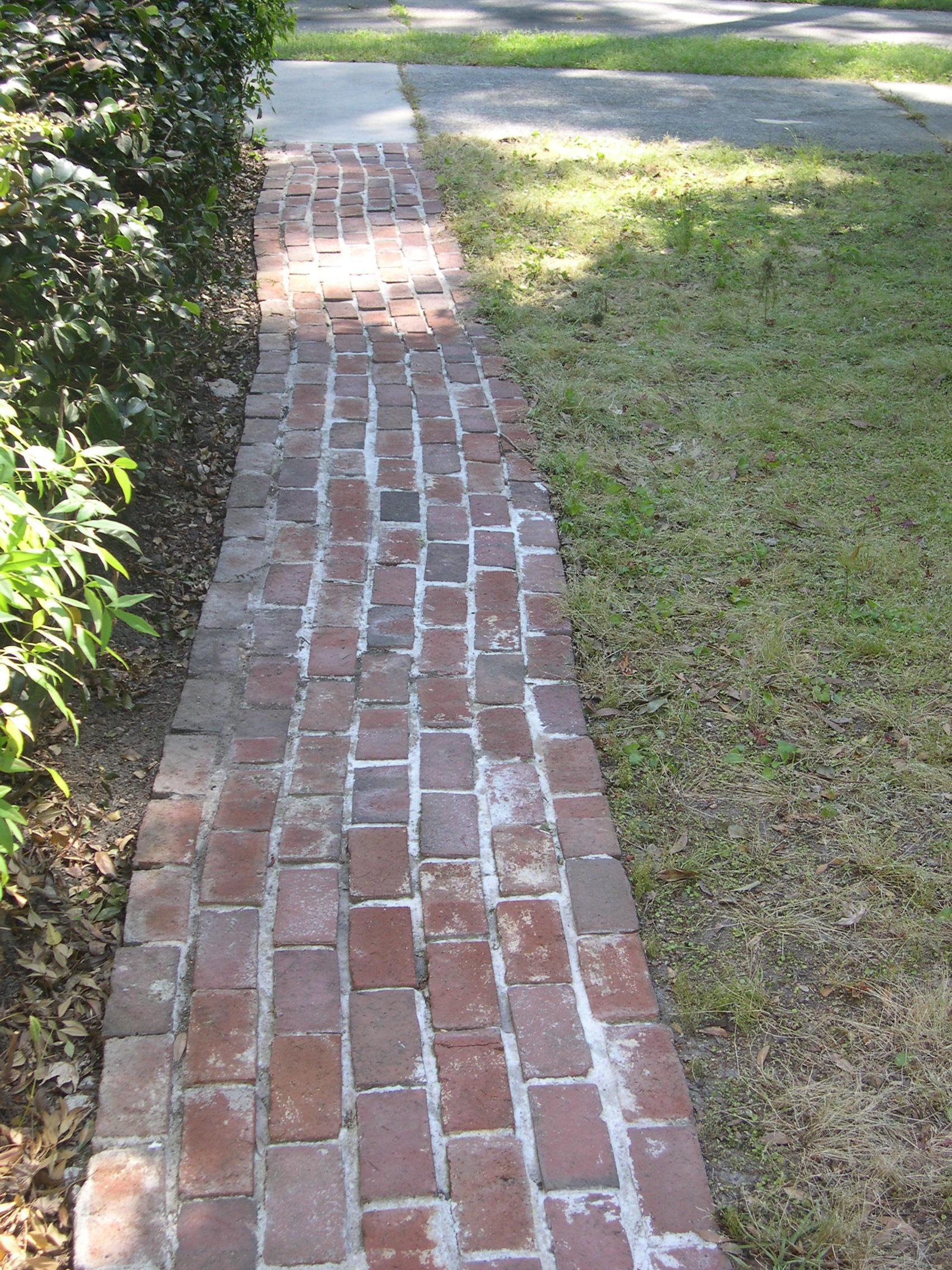 Improper measurements causing an uneven walkway.