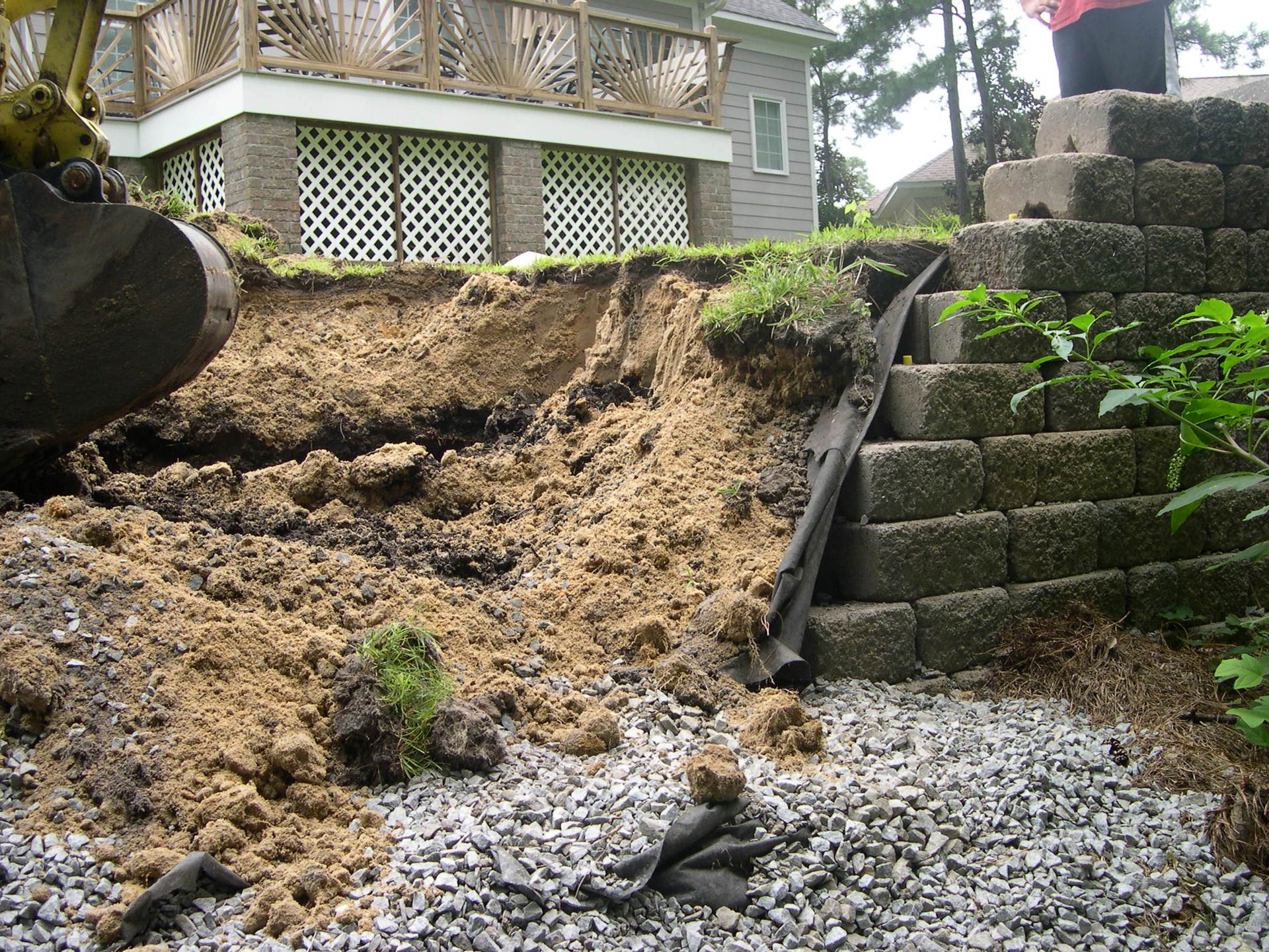 Retaining Wall Construction in Greenville, NC