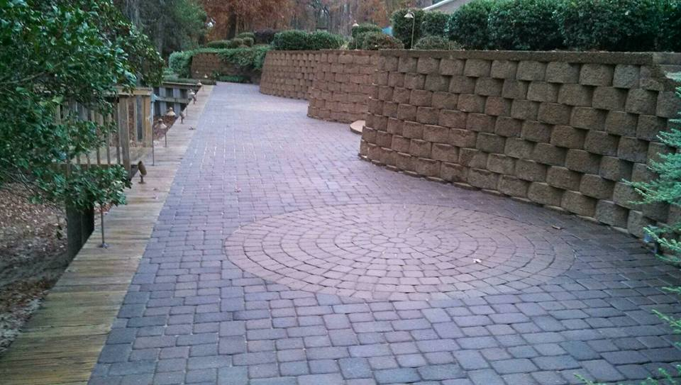 Retaining Wall Construction in Greenville, NC  by Creech's Landscaping Company