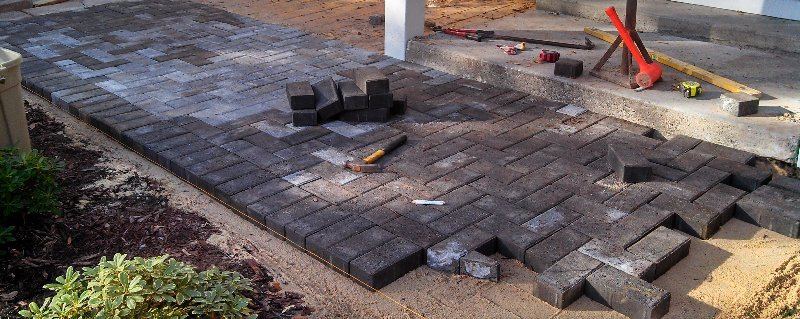 Patio Paving Project in Greenville, NC - Creech's Landscaping Company