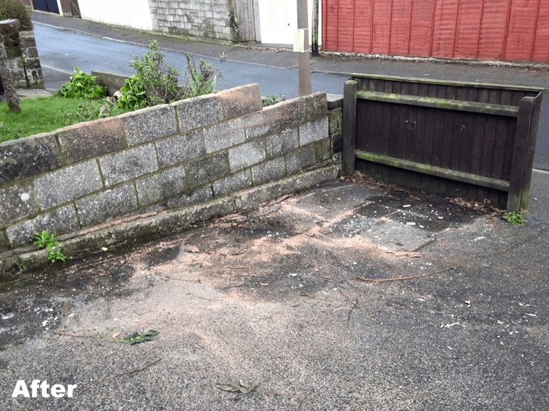 area after waste removal