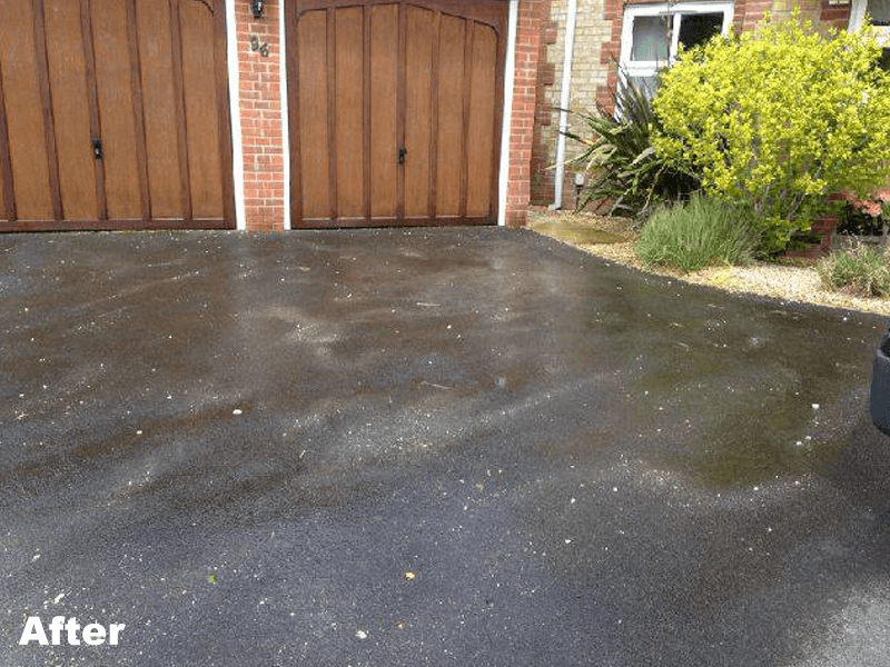 wet surface area in front of the home