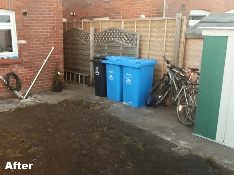 cleaner surface and garden area