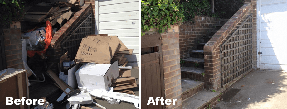 before and after rubbish cleaning