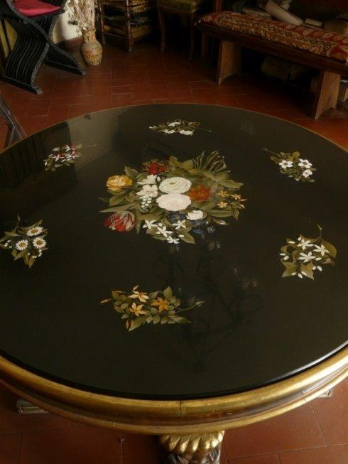 pittura su tavolo, intarsio, decorazione tavolo