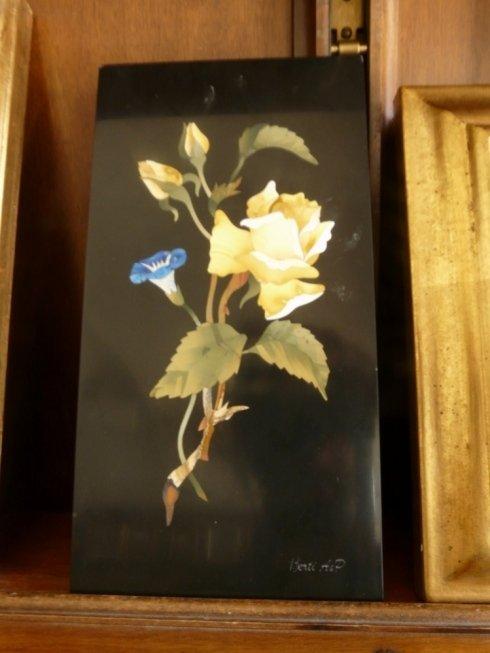 figure in mosaico, pittura fiori, pittura piante