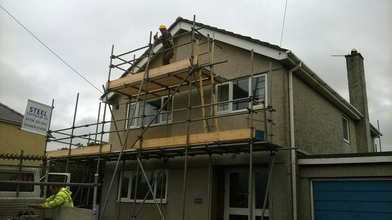 temporary scaffolding