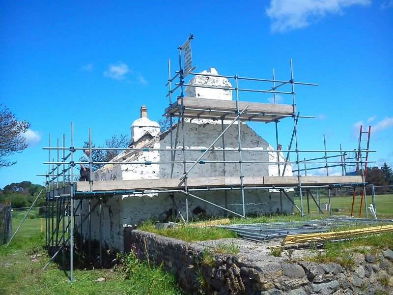 historical building scaffolding