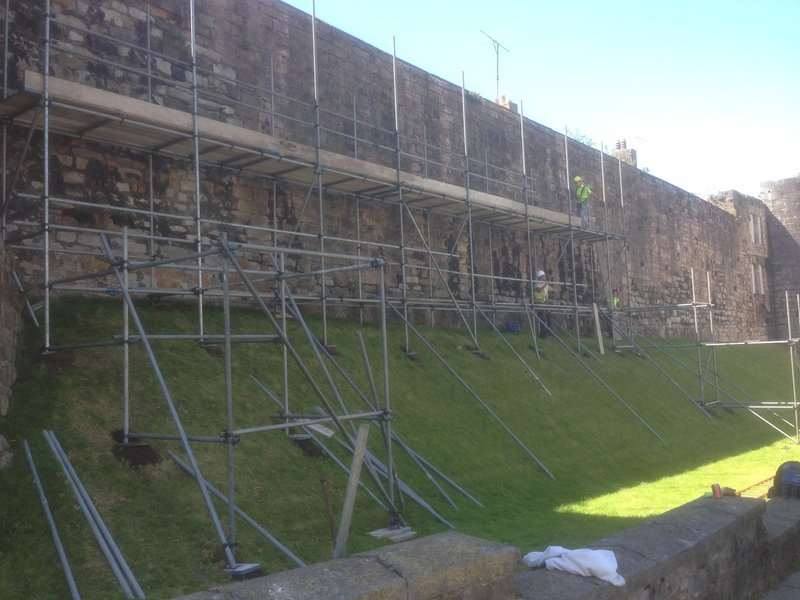 side view of the scaffolding