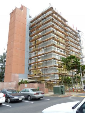 building under construction by Lions Painting LLC experts in Honolulu, HI