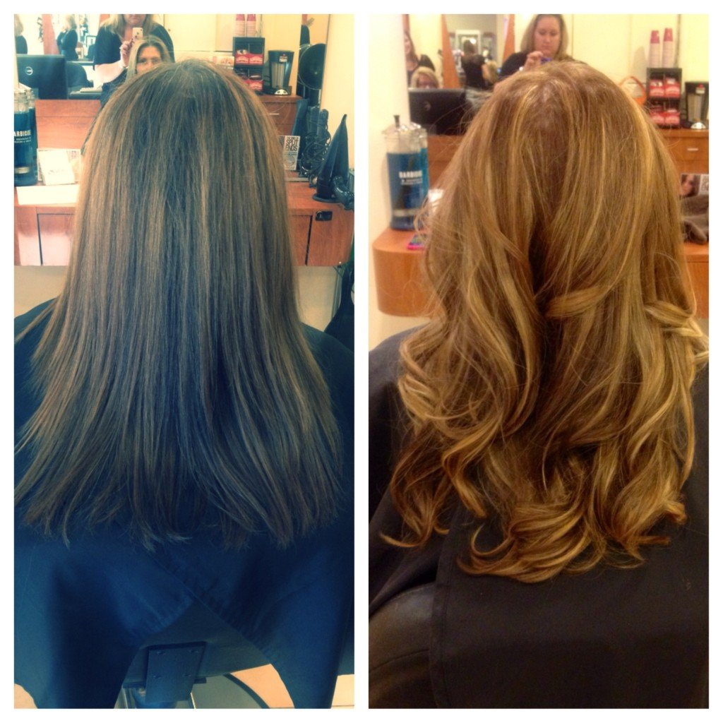 Before and After hair Salon Tsunami
