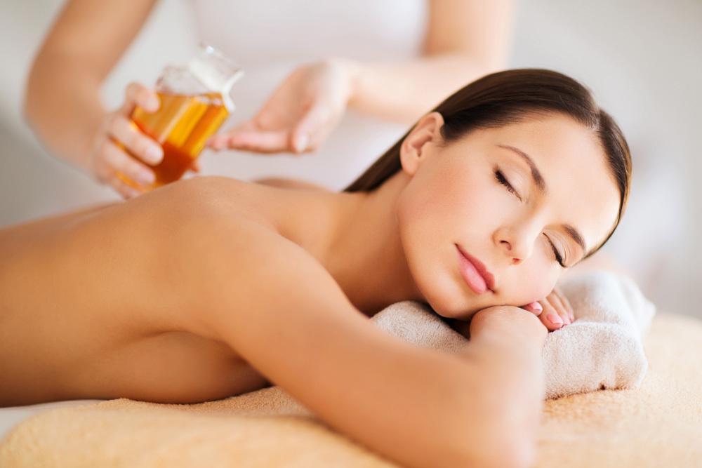 A woman receiving aromatherapy in Rockhampton