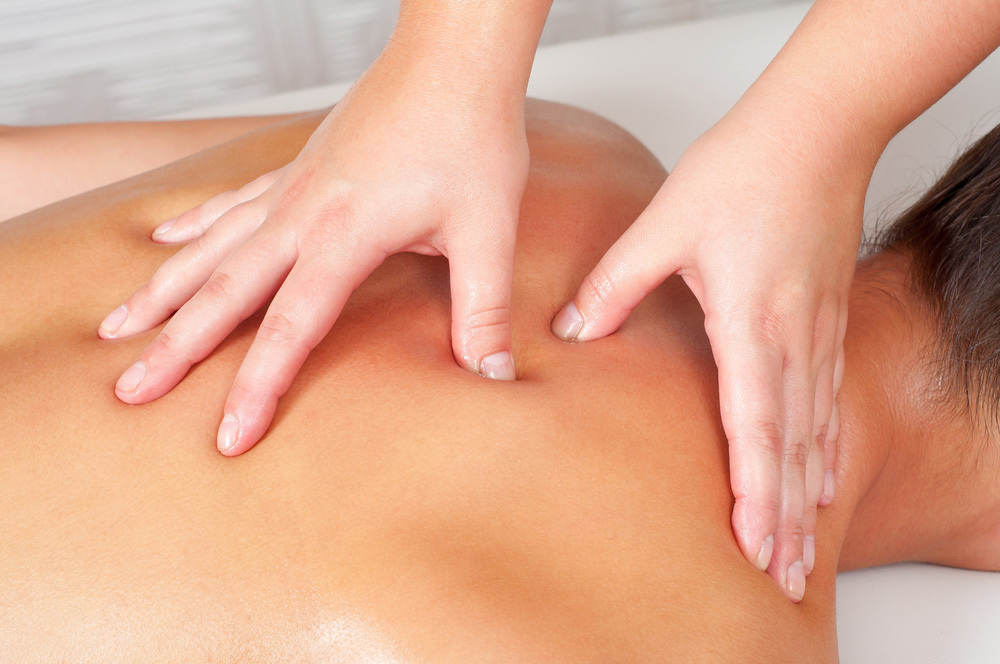 A patient receiving remedial massage