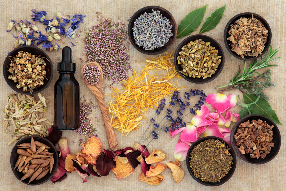 Image of herbs representing naturopathy