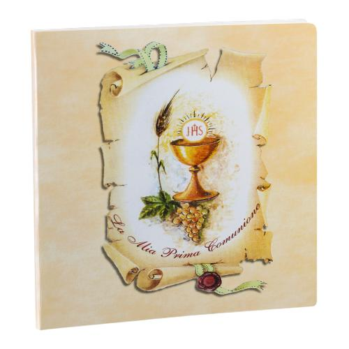 Communion Folder art. 1. Cardboard album folder. Available in 24x30, 30x30, 33x33 formats, for a maximum of 12 slots Olimp Album