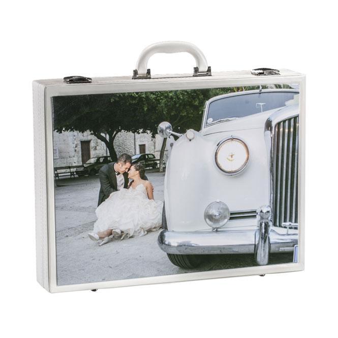 Valigia Lux Olimp Album. Valigia in similpelle con incastro per foto, disponibile per l'album  30x40 e 35x45 bianco