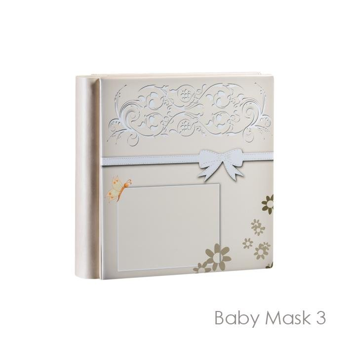Baby Mask Model art. 3. Leatherette album with opaque plastic front cover photo for 18x13 photographs. Available in the 30x30, 33x33 and 35x35 formats Olimp Album