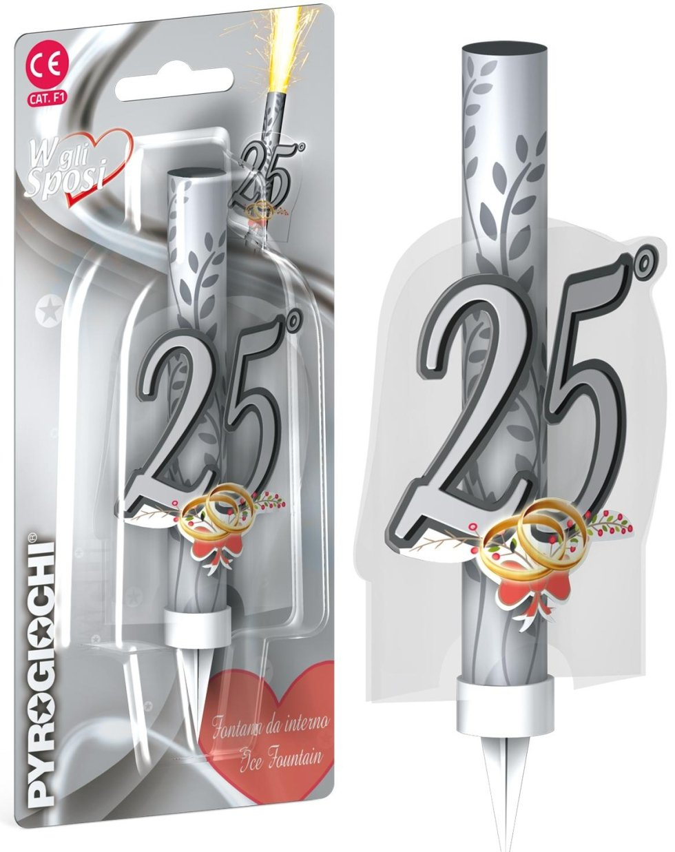 candele 25 anni
