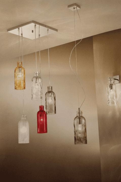 lampadario reggio emilia bottiglie