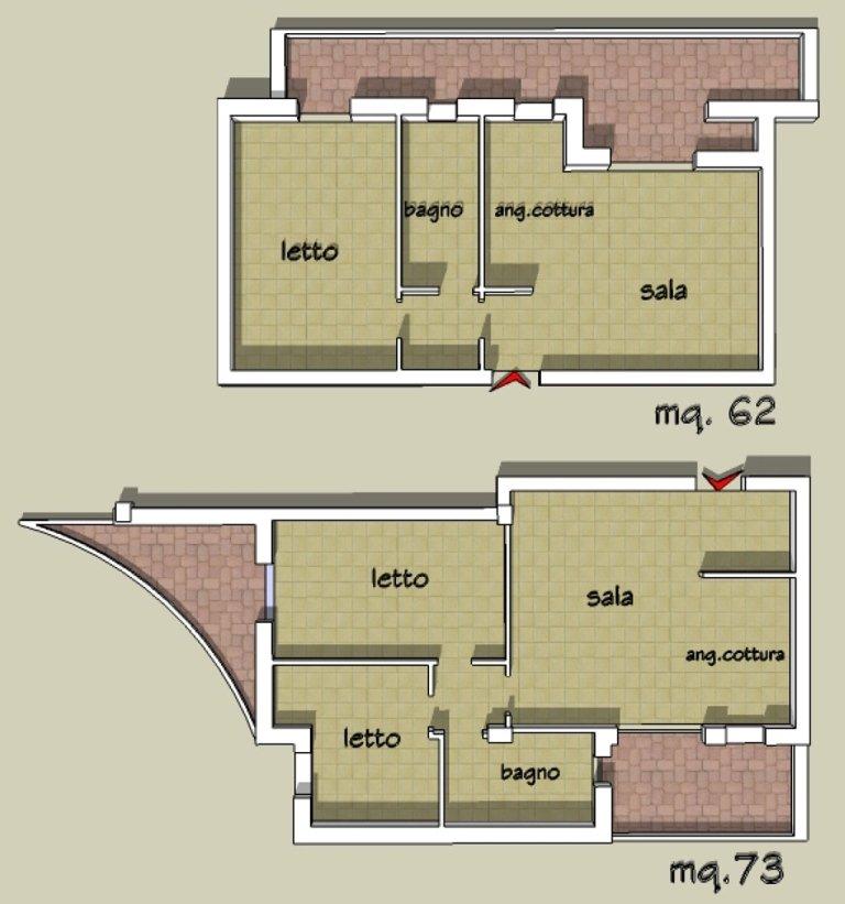 pianta appartamenti