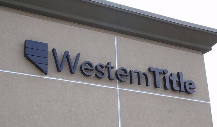 LED channel letters, western title sign