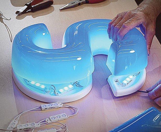 Gemlite Formed LED Letters