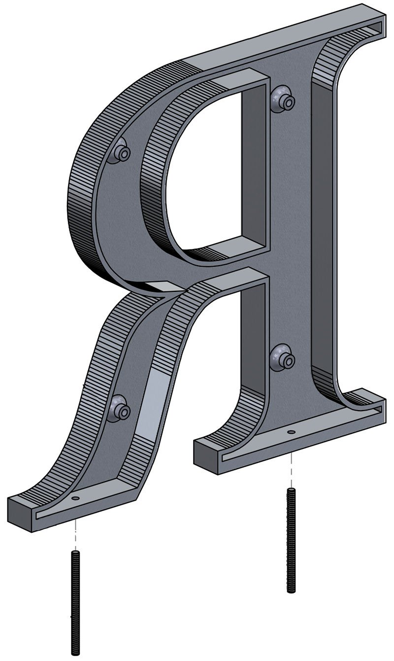 available mounting metal letters installation methods