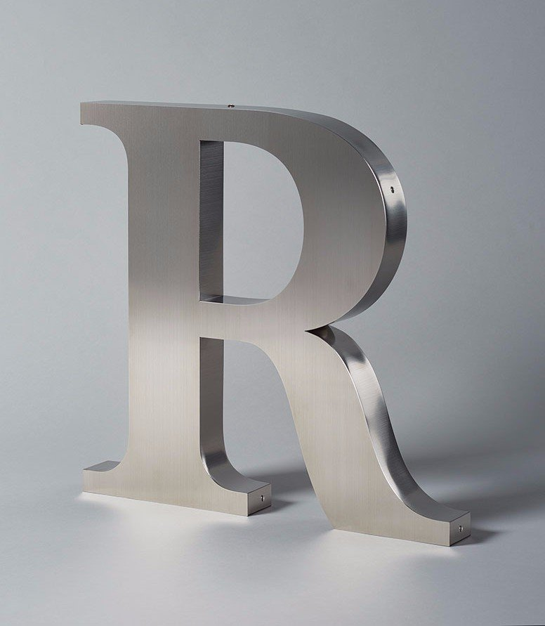 Stainless Steel Letter R