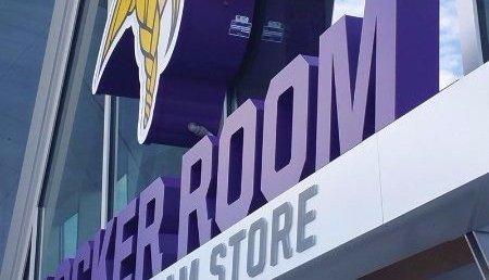 LED channel letters, locker room sign