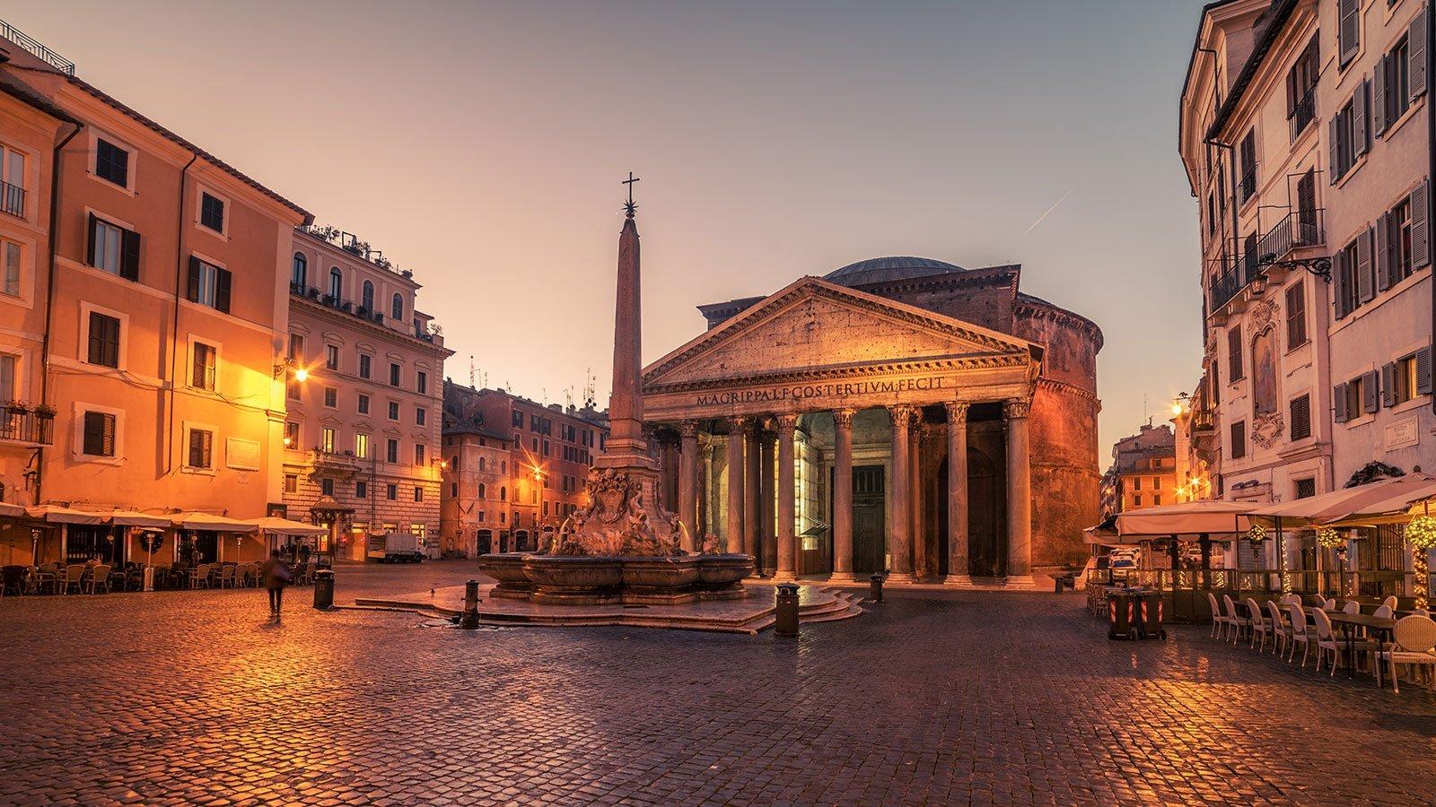 vista del Pantheon di Roma