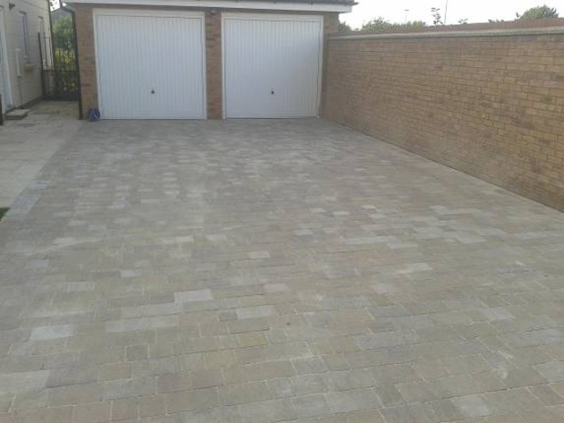 garage front area