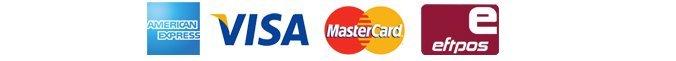 amex, visa, mastercard, eftpos