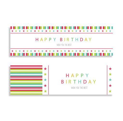 delle stampe di color verde rosso con scritto Happy Birthday