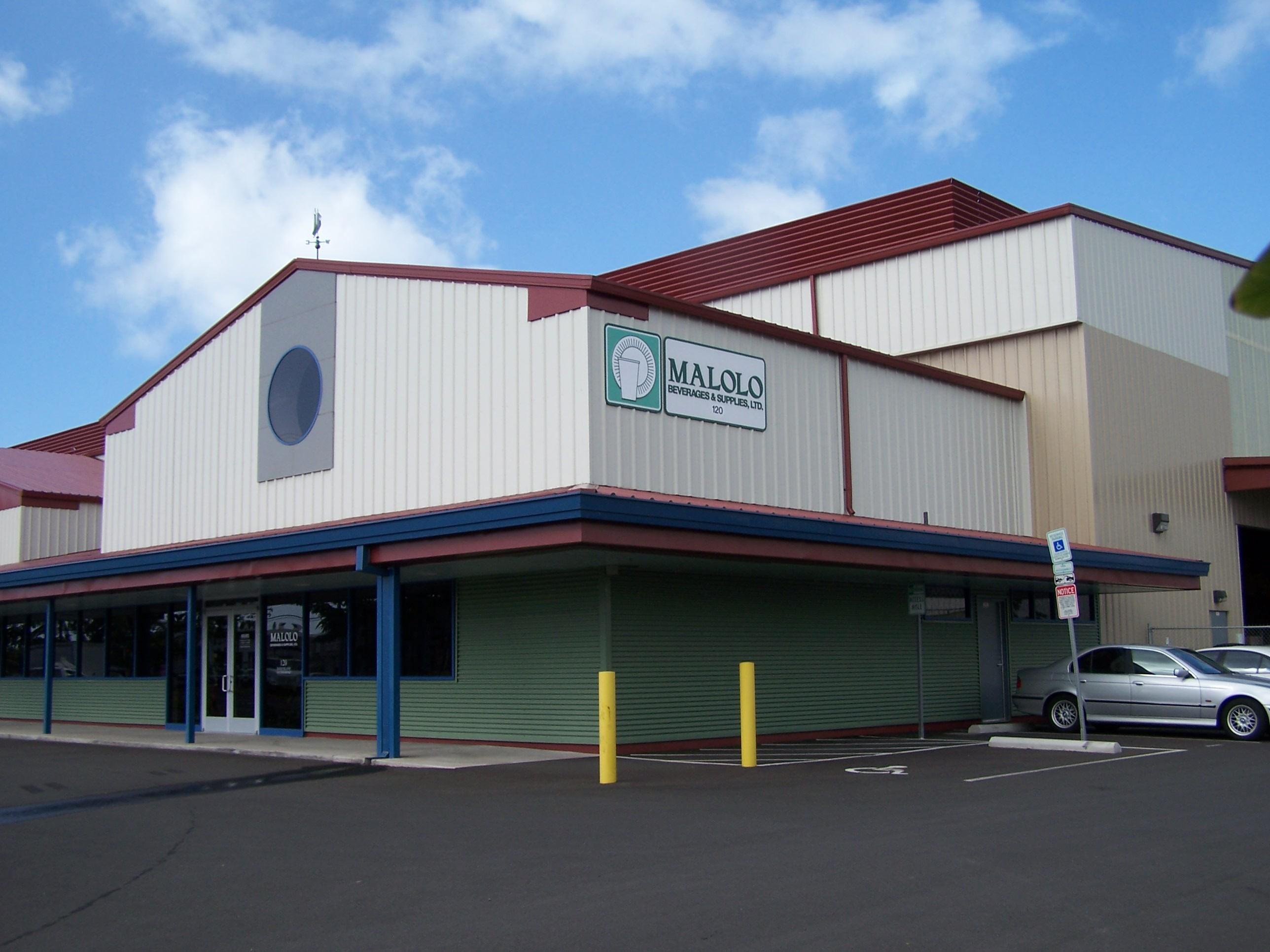 Distribution center for Malolo Beverages in Honolulu, HI