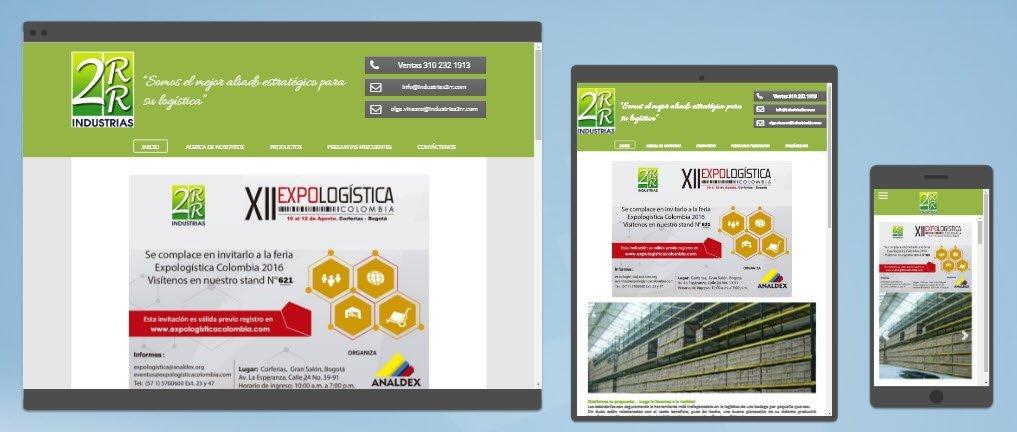 diseño sitios web industrias 2rr