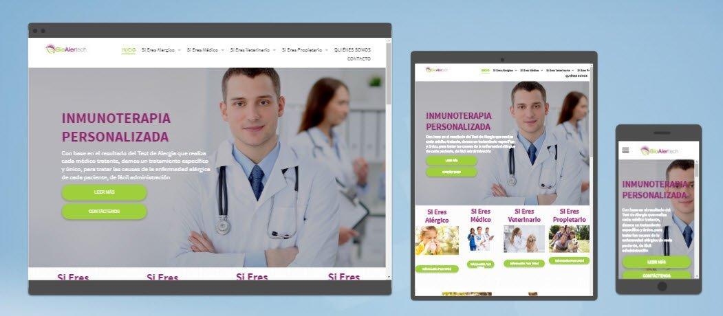 diseño sitios web bioalertech