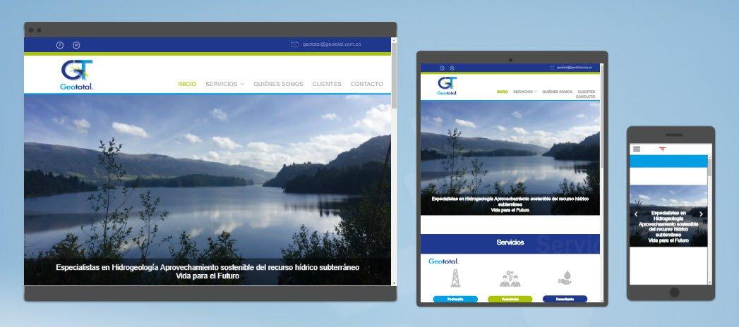 diseño sitios web geototal