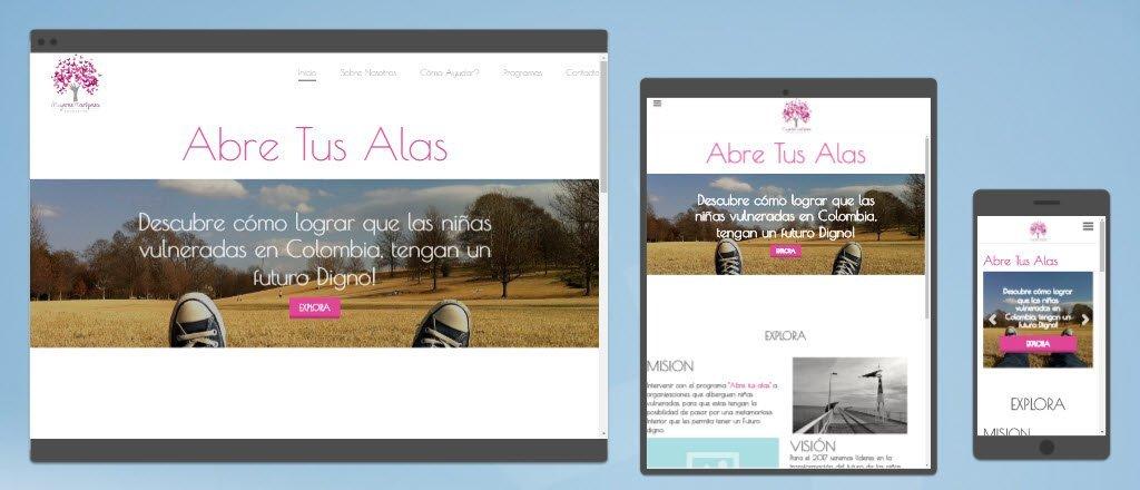diseño sitios web abre tus alas