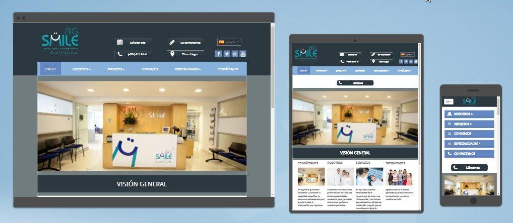 diseño sitios web bigsmile