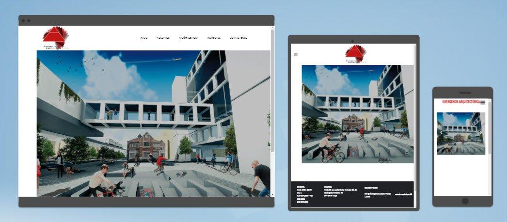 diseño sitios web divergencia arquitectónica
