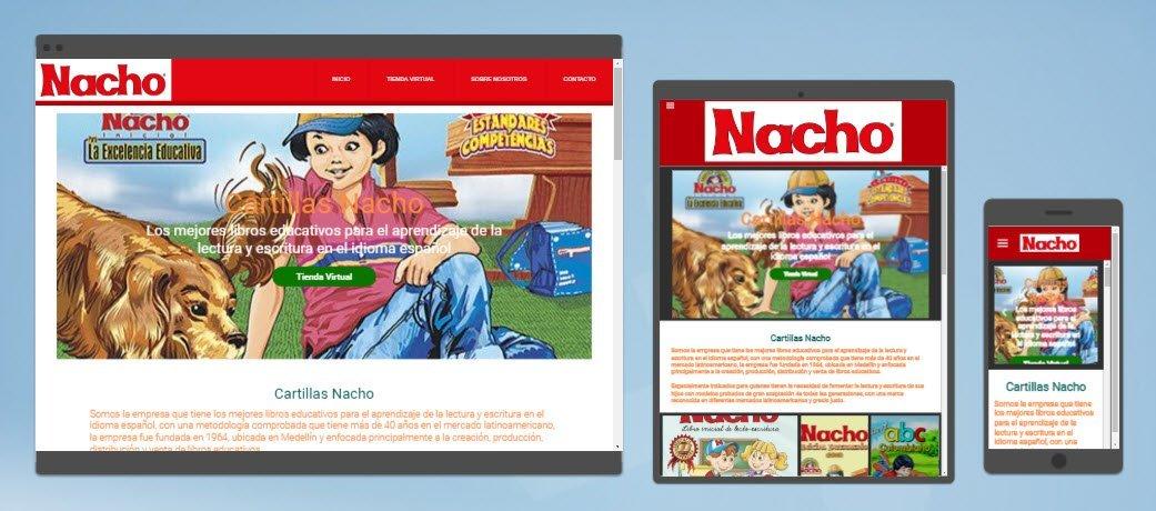 diseño sitios web cartillas nacho