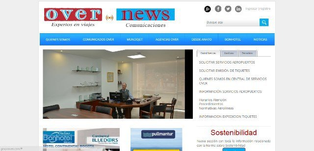 WSI sitio web Over News