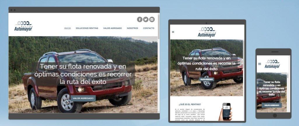 Diseño sitios web Renting Automayor