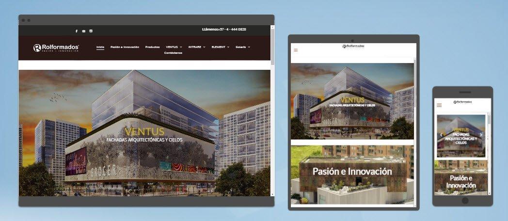 Diseño sitio web Rolformados