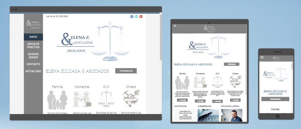 Diseño sitios web Zuluaga Abogados