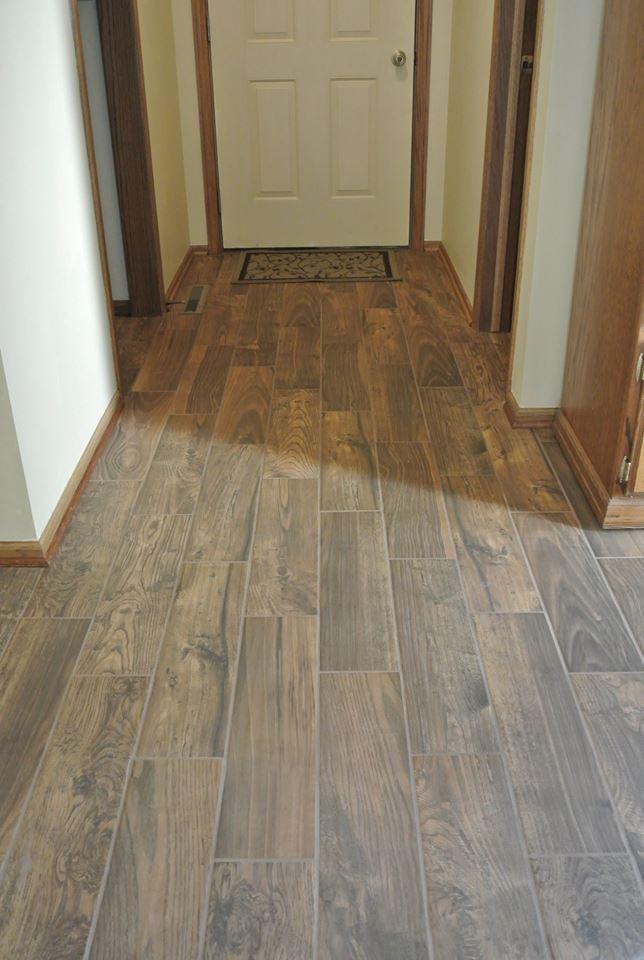 Wood laminate floor in Lincoln, NE