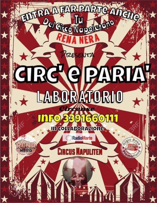 cartello cercando nuovi membri per il circo