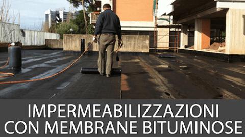 impermeabilizzazione con membrane bituminose
