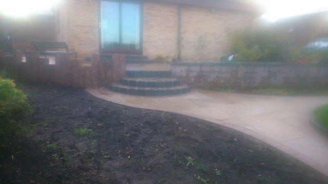 garden area design in progress